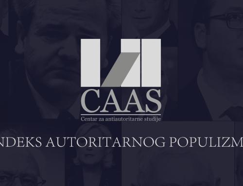 Pozivamo vas da prisustvujete promociji CAAS Indeksa autoritarnog populizma 18.12.2018. u 12:30 u Medija centru