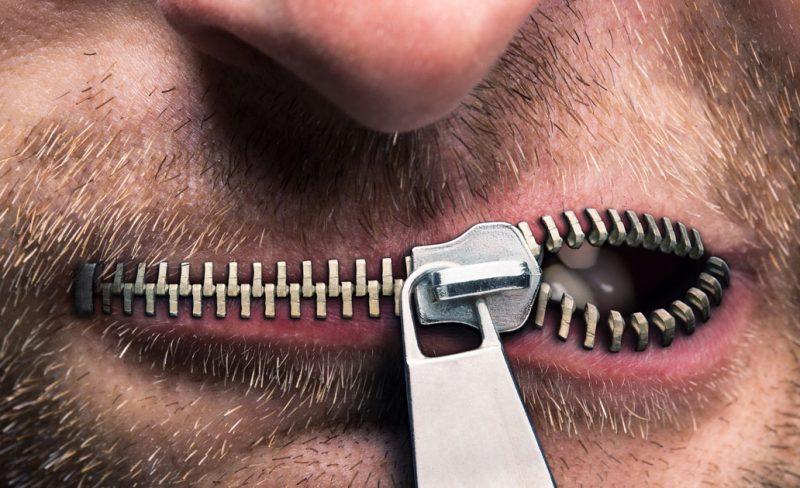 zipped-mouth