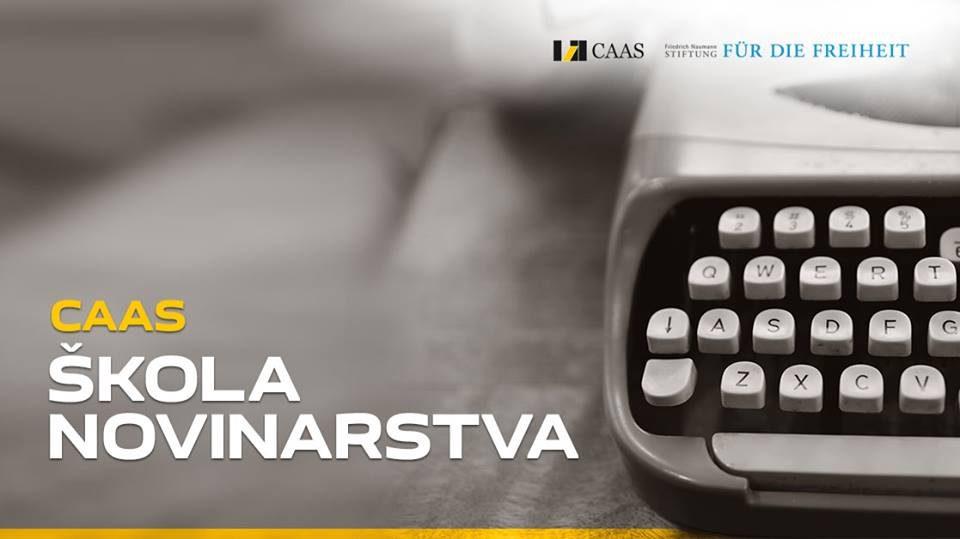 KONKURS ZA CAAS ŠKOLU NOVINARSTVA 2018.