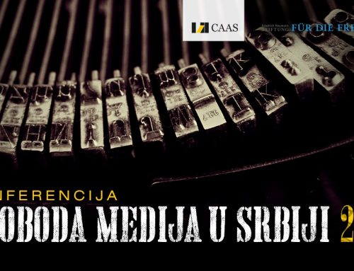 """Pozivamo Vas na konferenciju """"Sloboda medija u Srbiji 2018"""" 15. decembra u Medija centru"""