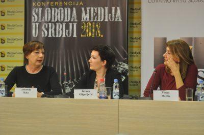 Antonela Riha, Jovana Gligorijević i Vesna Mališić o slobodi medija u Srbiji 2018.